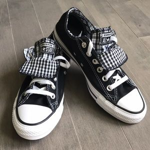 Converse All Star Low Top Plaid Tongue Sneaker